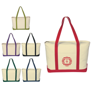 Large Heavy Cotton Canvas Boat Tote Bag | Advertising Plus