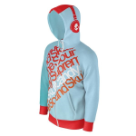 Rusty Import Unisex Dye-Sublimated Raglan Full-Zip Hoodie